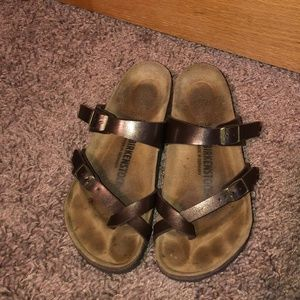 Birkenstock sz 38 8 Mayari Brown Metallic Sandals